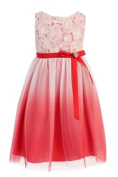 Red and black ombre dresses for girls
