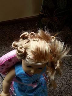 Curling ag doll hair so easy