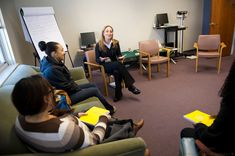 Part of the Kraft Practitioner Program is to develop and implement a project, based on the needs of the health center and the passion of the practitioner. Aisling's project has been to implement Centering, a group model of prenatal care, seen here.