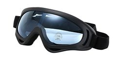 60c5ffc98ab3 Amazon.com  HaoMing Men s Windproof Goggles Snow Goggles UV400 Eyeglasses  Black Frame  Clothing