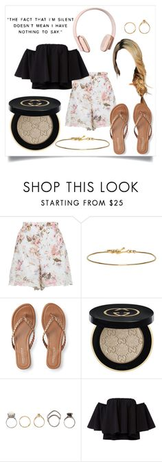 """""""Untitled #234"""" by mford21 ❤ liked on Polyvore featuring Zimmermann, Isabel Marant, Aéropostale, Gucci, Iosselliani and Kreafunk"""