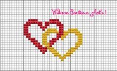 Cross Stitch Heart, Cross Stitch Alphabet, Cross Stitch Embroidery, Wedding Cross Stitch Patterns, Cross Stitch Designs, Filet Crochet Charts, Crochet Stitches, Baby Hat Knitting Patterns Free, Crochet Patterns