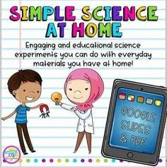 ⭐These engaging and educational science experiments can be completed with everyday materials that most people already have at home. Digital Google Slide format is easily compatible with Google Classroom. At Home Science Experiments, Easy Science, Elementary Science, Elementary Teacher, Science Lessons, Elementary Education, Tornado In A Bottle, Notes To Parents, Color Swirl