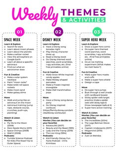 Summer Camp at Home Planner: Free Printable
