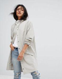 Длинная непромокаемая куртка Rains