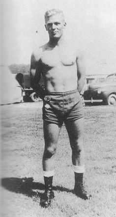 This is Richard Winters of the famed Easy Company made known by the HBO mini-series Band Of Brothers. Not only was Winters an exemplary commander that led his men through some tough shit he was also a total babe. Here he is looking hot at Camp Toccoa Georgia, 1942.