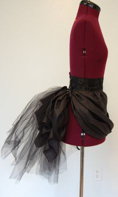Victorian steampunk gothic black tulle bustle. by hhfashions