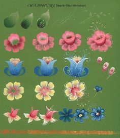 one stroke flowers, can also be used to create beautiful face paintings