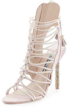 9d3ce11f550 Sophia Webster Lacey Crystal Bridal Sandal Toe Loop Sandals