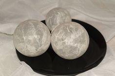 Leuchtkugeln in Weiß, Dekokugeln von Bastelkiste auf DaWanda.com