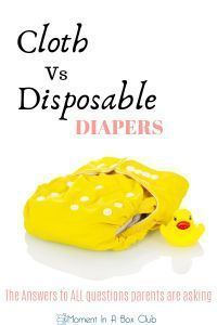 Cloth Vs Disposable Diapers - Moment in a Box Diaper Genie, Diaper Pail, Advice For New Moms, Mom Advice, Used Cloth Diapers, First Pregnancy, Pregnancy Tips, Best Baby Shower Gifts, Disposable Diapers