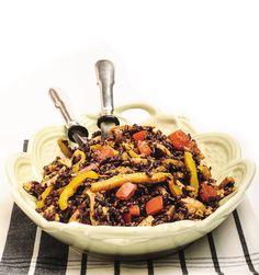 #Insalata di #riso venere con #pollo e #verdure #ricetta #senzaglutine