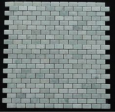 $15 /ft - Mini Brick Ming Green Marble Polished Mosaic Tiles - modern - Floor Tiles - Mosaictiledirect