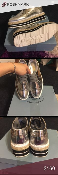 Silver shoes New with box, oxford design Shoes Sneakers