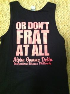 frat hard or dont frat at all... that's how AGDs do it!