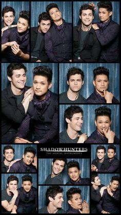 Shadowhunters ... Matthew Daddario and Harry Shum Jr as Alec Lightwood and Magnus Bane