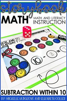 "Check out this post on ""Using to Literacy to Teach Math"" to Kindergartens and homeschool students. These math lessons are directly tied to books. Each unit will focus on one key math skill or concept. Includes practice activities that relate to 4 different storybooks, coordinating craftivity that incorporates language arts & math, differentiated response sheets & more. Perfect for Kinders during math & literacy centers, stations, review, early or fast finishers, small group, or independent work."