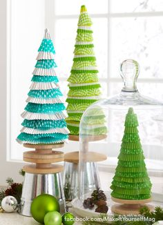 Put baking cups to good use in a make-believe woods — no baking required! (Designer: Tari Colby) For instructions, purchase your digital issue here: http://www.zinio.com/www/browse/issue.jsp?skuId=416279179&prnt=&offer=&categoryId=