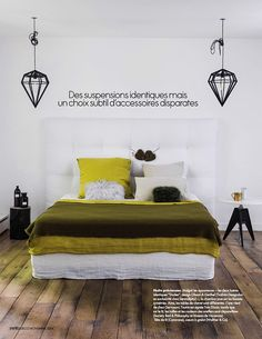 Laurence Simoncini does light (Desire To Inspire) Modern Bedroom, Master Bedroom, Bedroom Decor, Bedroom Ideas, Best Interior, Modern Interior, Interior Ideas, Turbulence Deco, Laurence