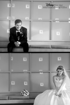 """We love this """"before"""" photo of the bride and groom #Disney #wedding. Photo: Chris, Disney Fine Art Photography"""