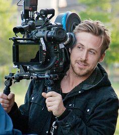"Director Ryan Gosling behind the camera on the set of ""Lost River. Lena Olin, James Mcavoy, Kevin Spacey, Michael Fassbender, Colin Firth, Jake Gyllenhaal, Sandra Bullock, Justin Timberlake, Ryan Gosling Hair"