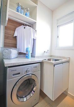 Inspiração para lavanderia pequena