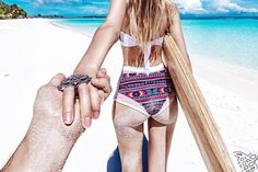 Le photographe russe Murad Osmann prend sa sublime femme en photo de dos partout dans le monde