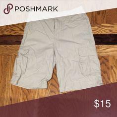Boys First Wave Khaki Cargo Shorts Boys First Wave Khaki Cargo Shorts First Wave Bottoms Shorts