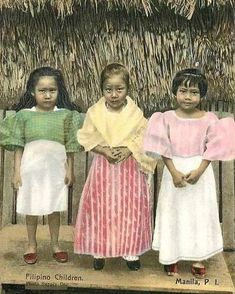 filipino children in traditional filipina clothes Miss Philippines, Philippines Culture, Fashion Images, New Fashion, Old Photos, Vintage Photos, Filipino Culture, Filipina Beauty, Filipiniana
