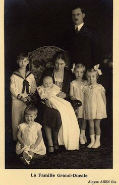 Grand Duchess Charlotte and Prince Felix with their children