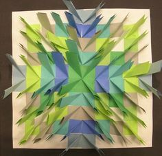 Grade 4 Paper Relief Sculpture - wonder if it is made from post-it notes?