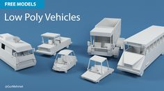 Free Cinema 4D Models   Low Poly Vehicles