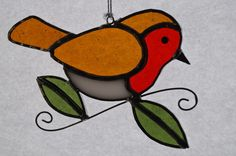 Stained Glass Robin Suncatcher