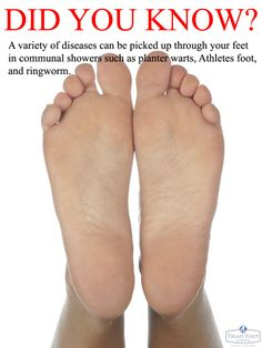 The feet can contract an array of nasty diseases from ...