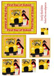 First Day of School Pyramid on Craftsuprint - View Now!