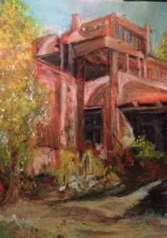 The House That Mabel Built Oil Pastel.   Robin Miller-Bookhout Creative Fine Arts (WIP)