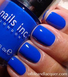 Nails Inc. Baker Street. Such a striking cobalt!
