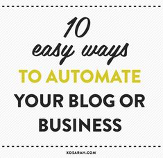 This week I shared my top 12 monthly tasks for keeping your business healthy and one of those ways was to simplify and/or automate my processes. All that admin-type stuff can take hours, so now I h...
