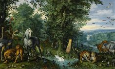 Jan Brueghel el viejo, del jardín de Eden con la caída del hombre (1613). el Departamento de cultura, UK.