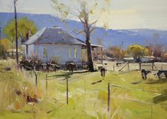 Colley Whisson Workshops | Winter's Glow, USA • 10x14, oil