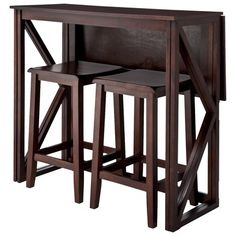 "24"" Backless Counter Stool - Set of 2. Table collapses and opens as needed!"