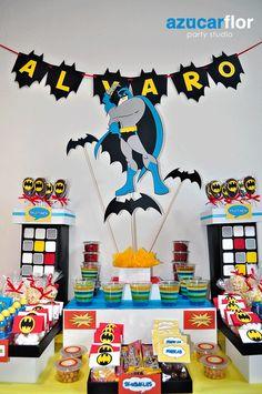 decoracion centro de mesa batman - Buscar con Google