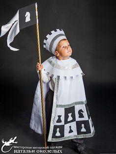 Купить Белый Ферзь (карнавальный костюм) - карнавальный костюм, шахматы, ферзь, король, для мальчиков, плащ