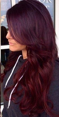 Burgundy hair.