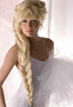 Idées de coiffures de mariage pour cheveux longs [Photos] Reine des neiges herself!