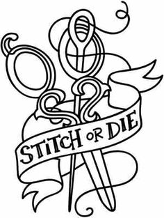 Embroidery Designs at Urban Threads - Stitch or Die Embroidery Applique, Cross Stitch Embroidery, Embroidery Patterns, Cross Stitch Patterns, Machine Embroidery, Cross Stitch Tattoo, Sewing Machine Tattoo, Coloring Books, Coloring Pages