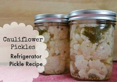 One of our family& favorite way to eat cauliflower is pickled. The best part of cauliflower pickles is that they don& require canning skills! Pickled Cauliflower, Cauliflower Recipes, Healthy Recipes, Real Food Recipes, Keto Recipes, Yummy Food, Veggie Recipes, Healthy Meals, Healthy Food