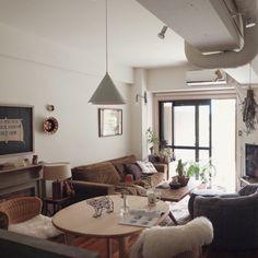 taka55さんの、Lounge,トラックファニチャー,三角,イデー,TRUCK FUNITURE,FKソファ,RC広島支部,アンビエントラウンジジャパン,ベルイ ランプについての部屋写真