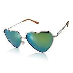 Metallrahmen Nettes Liebes-Herz-Form-Personality Sunglasses gold
