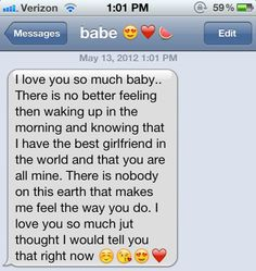 cute text messages to boyfriend - Google Search